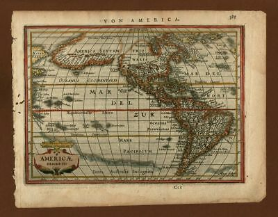 America,  orig Kupferstichkarte copper engraved map Mercator ca. 1640