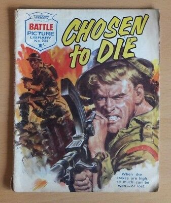 "BATTLE PICTURE LIBRARY # 234 ""Chosen to Die"" published January 1966."