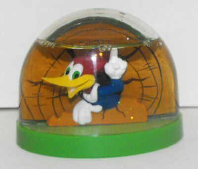 Woody Woodpecker Snowglobe (3 inch by 2 1/2 inch) Plastic Cartoon Snow Globe