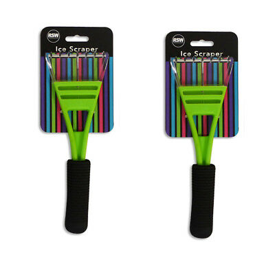 Car Ice Scraper PAck of 2 with Comfort Grip Handle in Funky Green
