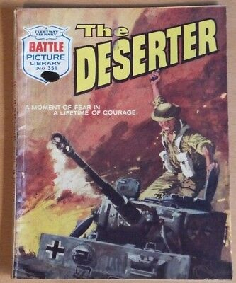 "BATTLE PICTURE LIBRARY # 354 ""The Deserter"". War comic published July 1968."