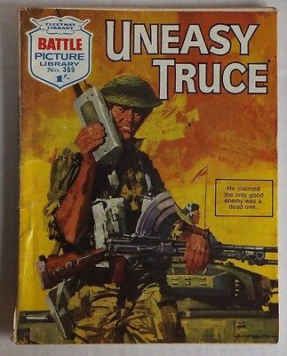 "BATTLE Picture Library. # 369 ""Uneasy Truce"", war comic published November 1968."