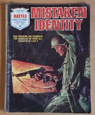 "BATTLE PICTURE LIBRARY # 373 ""Mistaken Identity"". War comic dated December 1968."