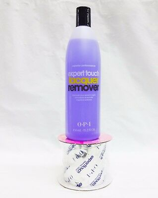 OPI Nail Expert Touch Polish Gel Remover Purple 15.2oz + 250ct Removal Wraps