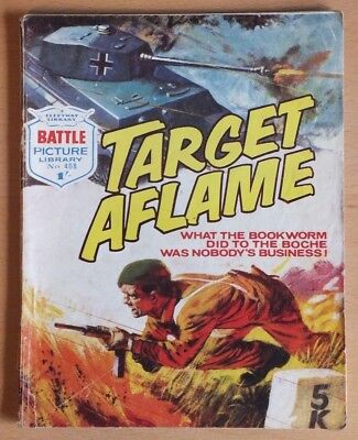 "BATTLE Picture Library # 408 ""Target Aflame"", war comic published July 1969."