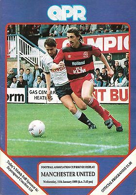 QPR v Manchester United - FA Cup replay - 1988/89