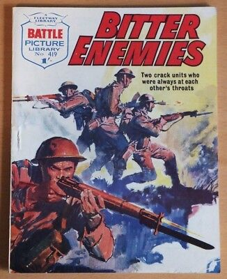 "BATTLE Picture Library # 419 ""Bitter Enemies"", published September 1969. VG++"