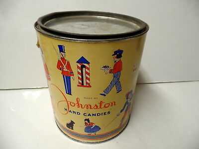 Vintage Johnston Hard Candies 5Lb Tin Milwaukee Wisconsin Wis Wi Minniapolis Mn