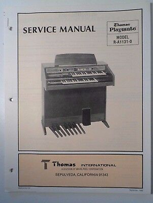 Original Thomas Organ Service Manual Playmate R-A1131-0 Series