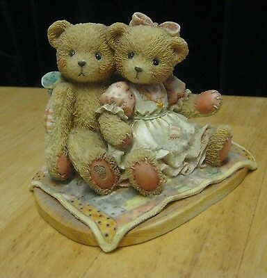 "Cherished Teddies 1991 ""It's Twice As Nice With You"" Nathaniel & Nellie Figurine"