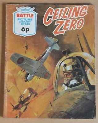"BATTLE PICTURE LIBRARY # 648 ""Ceiling Zero"" War comic published 1972."
