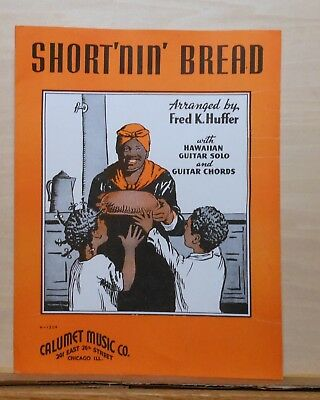 Short'nin' Bread  - 1939 sheet music - Black woman and children on cover
