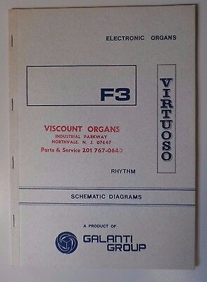 Original Galanti F3 Virtuoso Electronic Organ Schematic Diagrams