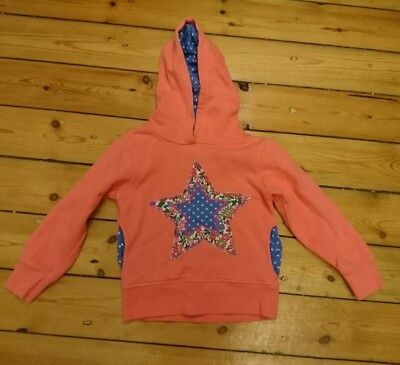 Mini Boden Kids Girls Star Hoodie Jumper Pink 4-5 years