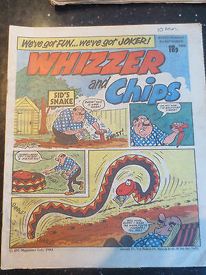 Whizzer and Chips Vintage Old UK Paper COMIC 3 September 1983 Birthday Gift