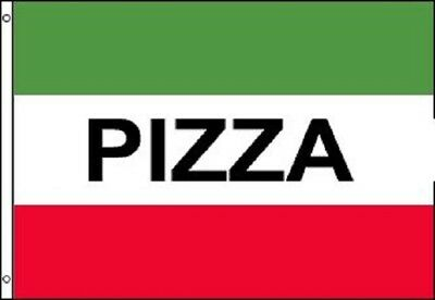 PIZZA Green and Red Flag Pizzeria Italian Restaurant Banner Pennant 3x5 Sign New