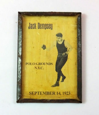 Antique Sept 1923 Dempsey Jack Fighter Coat Pin Advertising