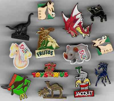 Lot 8 Pins Pin's Annimaux Annimal Divers Girafe Cheval Etc