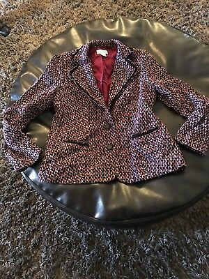 Womans Maternity Tweed Jacket Pink And Black By Motherhood Sz Medium