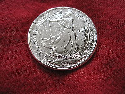 2015 Britannia Partial Collar Mint Error BU Great Britain UK 1oz .999 Silver