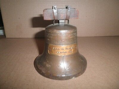 Old original Bank of Donora, Donora, Pa. Bell shaped promotional still bank 1930