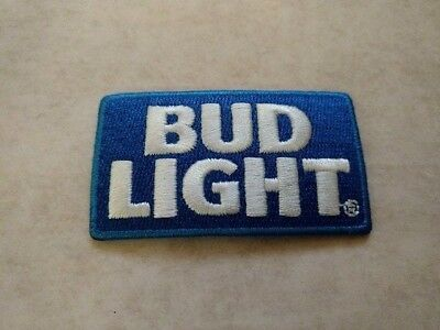 """Bud Light Beer Iron On Patch 2-1/2"""" X 1-1/2"""""""