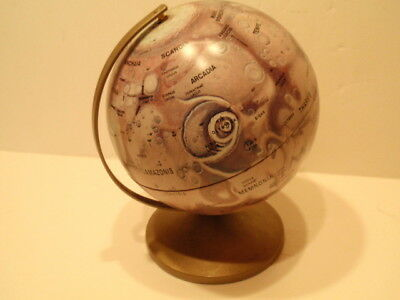 "Mars.... Replogle 6"" Metal Globe,nasa Photographs,leroy Tolman Cartographer"