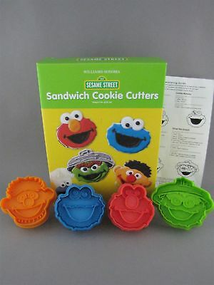 Sesame Street Cookie Cutters Williams Sonoma Spring Loaded Set of 4