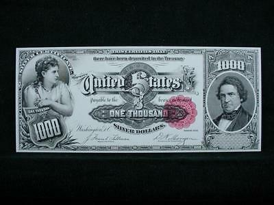NobleSpirit NO RESERVE {3970} ABN Archive $1,000 Silver Cert Uniface Trial Proof
