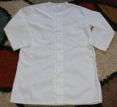 "Best Medical Associate L/S Lab Coat Snap & Pocket 41"" Length White Sz XS to L"
