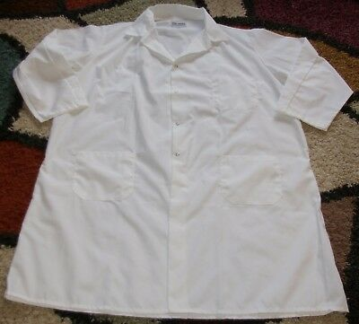 "Artex Medical Unisex L/S Lab Coat Snap 3 Pocket 43"" Length White Size 2X"