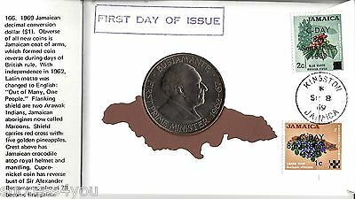 1969 Jamaican Decimal Conversion Dollar - First Day Of Issue Cover By 99 Company
