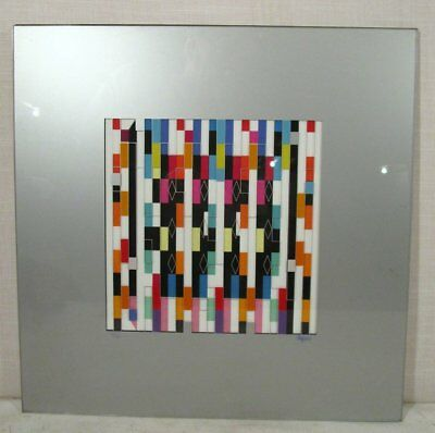Yaacov Agam interspaceograph mixed media Abstract Serigraph on Plexiglas 53/99