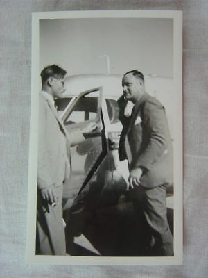 Vintage Photo Dan Thompson Radio Man w/ Airplane Salesman 822