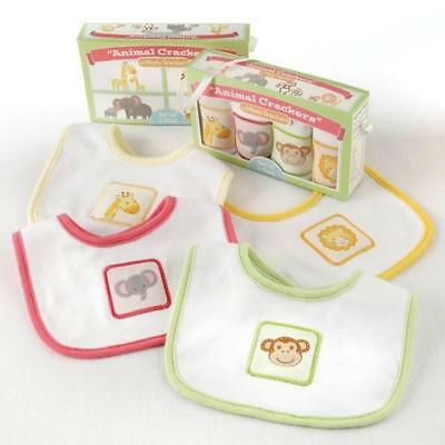 """""""Animal Crackers"""" for Messy Snackers Bibs- Set of 4"""