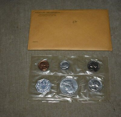 1962 U.s. Mint 90% Silver Proof Set Original Cello, Boards & Envelope - Coins