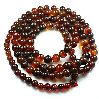 32.25g 100% Natural Mexican Blood Red Amber Bead Bracelet Necklace CSFb510