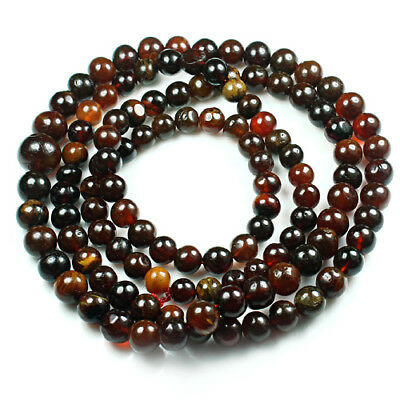 33.7g 100% Natural Mexican Blood Red Amber Bead Bracelet Necklace CSFb511