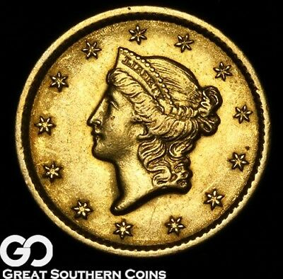 1849 Gold Dollar, $1 Gold Liberty, Collectors Type Better Date ** Free Shipping!