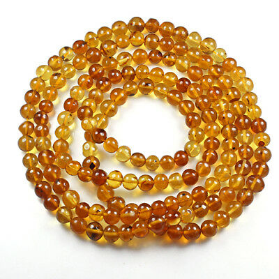 24.91g 100% Natural Mexican Golden Amber Bead Bracelet Necklace CSFb517