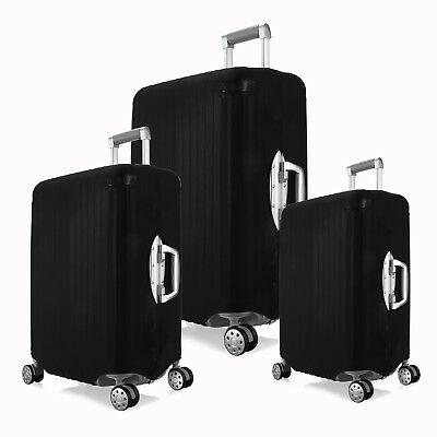 """BLACK Elastic Portable Dust-proof Travel Suitcase Luggage Cover 18/24/ 28"""""""