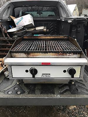 """Toastmaster Pro-Series 24"""" Charbroiler Grill Model TLC24 Table Top Commercial"""