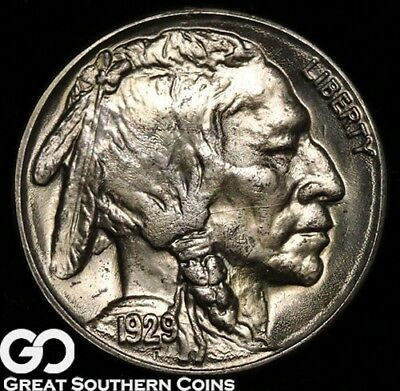 1929-S Buffalo Nickel, FULLY Struck Superb Gem BU++, Tough This Nice!