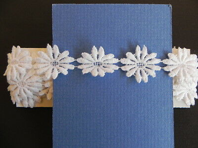 Card of New Guipure Lace - White
