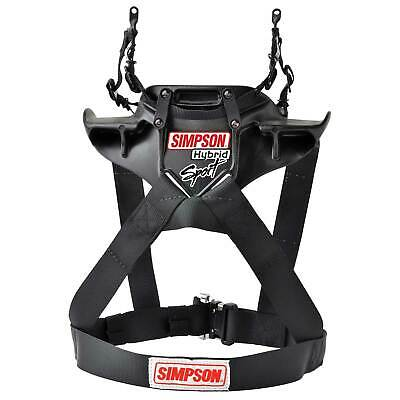 Simpson Race Rally Hybrid Sport Head & Neck Restraint M61 Quick Release Tethers