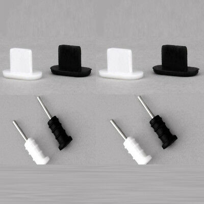20x Silicon Port Dust Covers Plug Stopper White +Black For iPhone 5S 6/6s/7/8/X