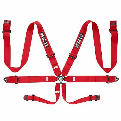 Sparco 6 Point Club Racer Rally Saloon Car Harness In Red