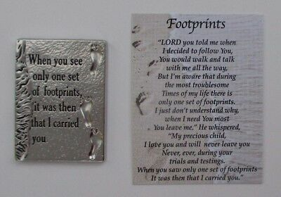 e FOOTPRINTS Pocket TOKEN Charm troubled times Lord is with you carries you Ganz