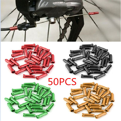 50PC Alloy Bike Bicycle Brake Shifter Derailleur Inner Cable Wire End Cap Crimps