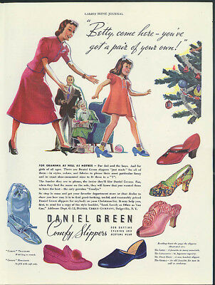 Betty, you've got a pair of your own! Daniel Green Comfy Slippers ad 1937